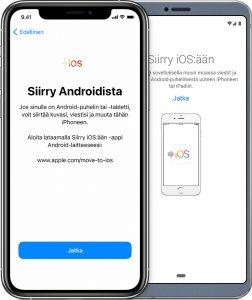 vaihda androidista iphoneen